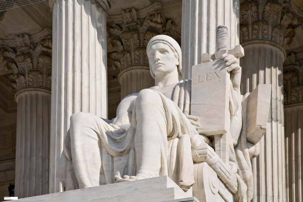 Seated Statue at US Supreme Court